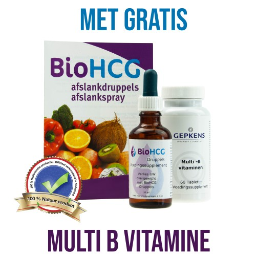 Bio HCG Druppels 50ml plus Multi-B vitamine 60 tabletten